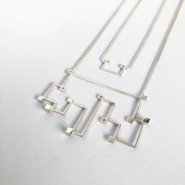 Simple Sample_Necklace_460x60x4mm_925 silver, fine silver plated